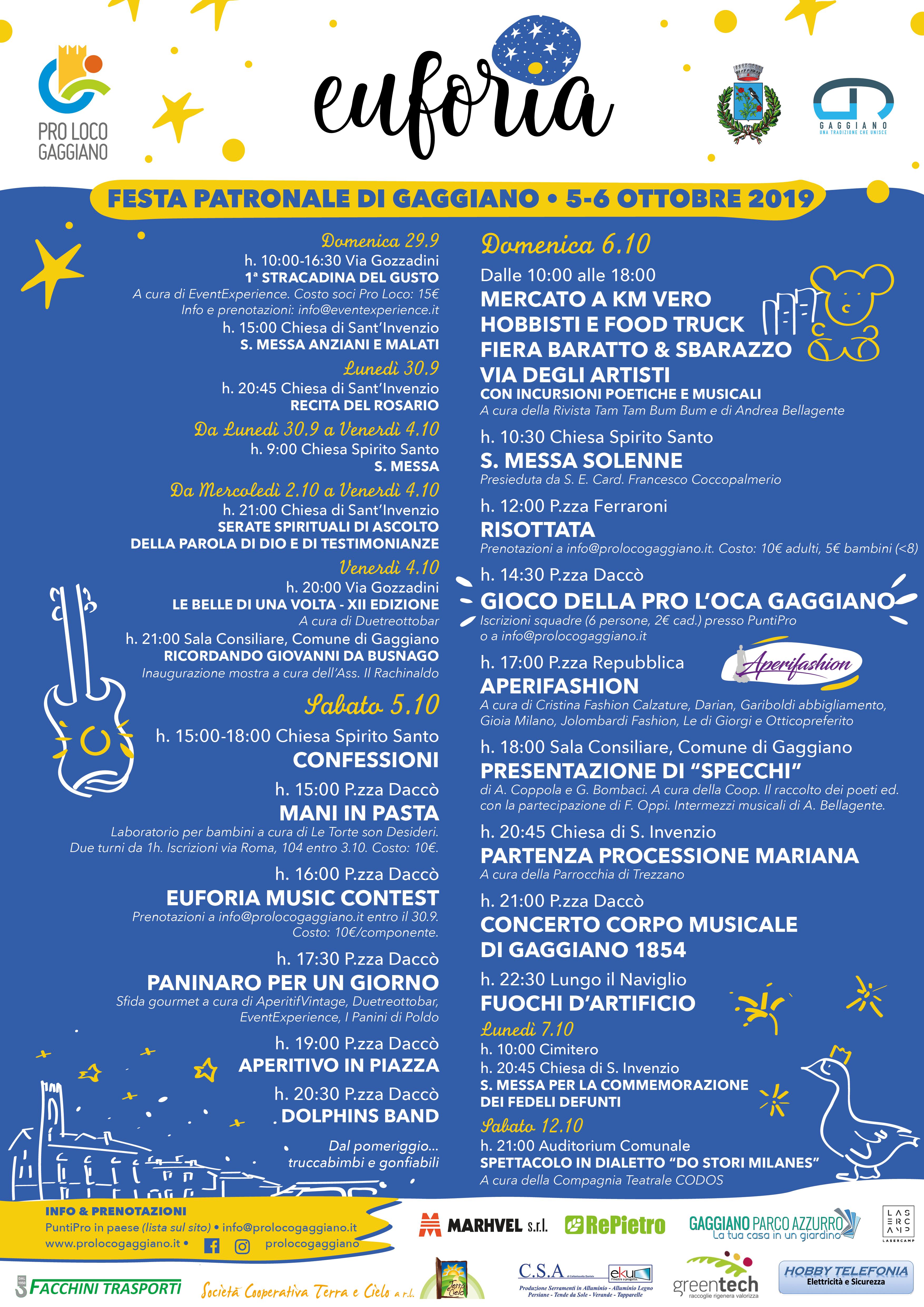Festa Patronale di Gaggiano Euforia 2019